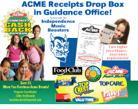 Save your ACME receipts and submit to collection box